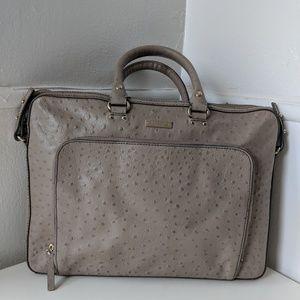 Taupe Kate Spade leather laptop bag